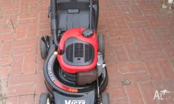 victa corvette 2 stroke mower & grass catcher in