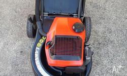 Victa Lawnmaster 2 stroke lawnmower with catcher, runs