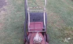 Old victa push mower. Mid 1960's. It's one of the first