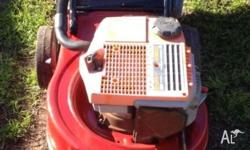 Victa Mower and Catcher Made in Australia!! Name