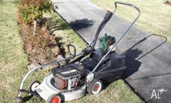 Victa Mower and Catcher Reliable Whipper Snipper Can