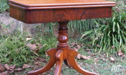 This is a Victorian mahogany folding tea table which
