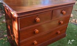 This is a lovely mahogany chest of four drawers