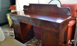 Victorian mahogony twin pedestal side board. This is a