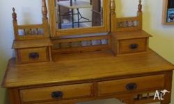 Victorian Pine Dressing table or Hall Table circa early