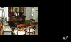 Approx. 1910-1920 smallish dining table (with one leaf)