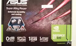 New ASUS GT610 Video card. 1 GB - DDR3 memory. 3