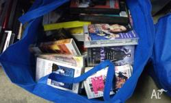 videos vhs, all mixed, bag of 50, $20 or 2 bags $40