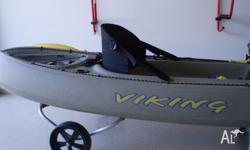 The Nemo fishing kayak is 3.2 metres long, 0.79 metres
