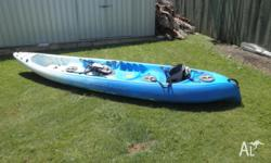 Viking Nemo 2 plus 1 Kayak for sale. Comes with 2 oars
