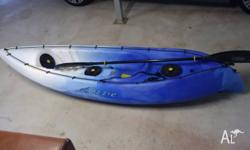 Viking Ozzie single seat kayak Colour: blue In good
