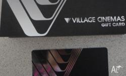 Village cinema gold class gift card face value $50