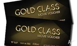 Two Village cinemas Gold Class ticket movie voucher for