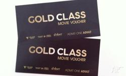 2 x Gold Class movie tickets valid for either one of