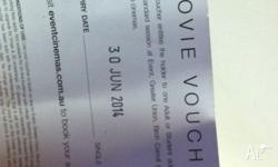 1 village cinema ticket. Valid any session, any time.
