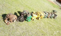 9x Villiers engines plus 1x unknown engine from