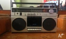 Vintage 70's Akai Cassette Boombox. Still in working