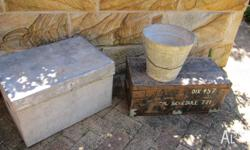VINTAGE TRUNK OLD WOOD CRATE OLD STORAGE BOX OLD