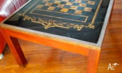 Nice Solid Vintage Chess table / occasional table.