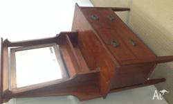 Vintage old fashioned cabinet dresser with mirror and 3