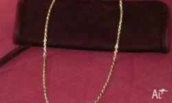 Vintage Rope Necklace Goldtone Length of chain 56cm