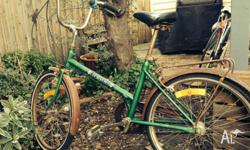 Hi there, I'm selling a green Repco cruiser. Its a top