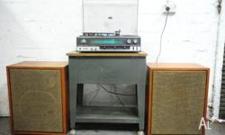 Up for sale is a beautiful vintage Sanyo hi-fi stereo