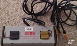 Rare foot switch Korg S-2 Korg S-2 Dual Foot Switch,