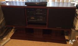 1980's Marantz stereo system with turntable. Fully