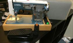 On offer is a Vintage Myer De Luxe Sewing Machine in