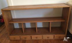 Vintage wooden bookshelf with great character. Could