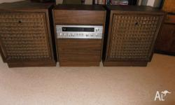 Complete your pad with this old skool Sanyo radiogram