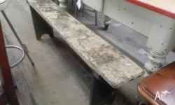 This is a vintage rustic wooden bench seat/pew/stool.