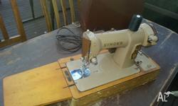 Fantastic portable vintage Singer sewing machine with