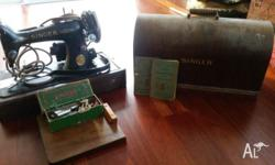 "Early Vintage Singer Sowing Machine ""Complete Unit"""