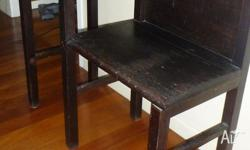 This table/seat has been used to hold the home phone.