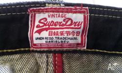 Size 32W x 32L Slim Fit Vintage SuperDry jeans in