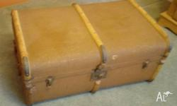 This trunk is made of wood ,externally covered with