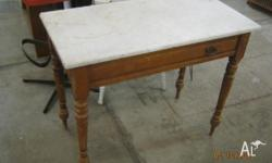 This is a vintage wooden hall/sofa table/wash stand