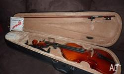 Violin ? Complete Setup ? 3/4 Violin with Bow ? Chin
