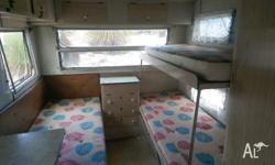 Seeling 1978 Viscount caravan 3 single beds and. A