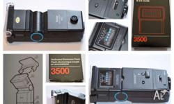 I have a Vivitar Zoom Thyristor 3500 DM/N flash light