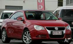VOLKSWAGEN,EOS,1F MY08 UPGRADE,2007, FWD, Red, BLACK