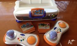 VTech Vsmile console with 3 games - Toy Story 3, Handy