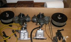 Solex Carburettors with air cleaners, inlet manifolds,