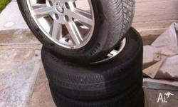 Good condition rims with 2 new tyres and 2 reasonable.