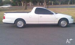 2002 VY COMMODORE UTE V6 AUTO,A/COND, PWR STEER, 15 X 7