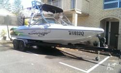 Sanger V215 Wakeseries Boat and matching Custom