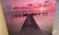 "Wall picture/poster ""Quiet Moment"" jetty in sunset $20"