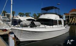 Warren Mews 43'converted cray boat, White, Cruiser,